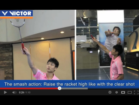 The nine most important skills of badminton : 4.Smash