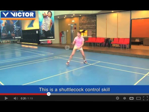 The nine most important skills of badminton : 9.Passive shot
