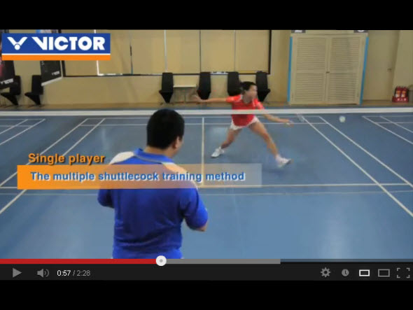 Badminton footwork 5 : Covering the court all around (2)