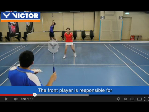 Doubles formation (1) : Doubles attacking cover
