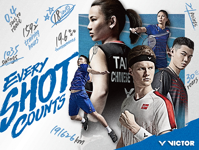 "VICTOR 2020 BRAND CAMPAIGN ""EVERY SHOT COUNTS"""
