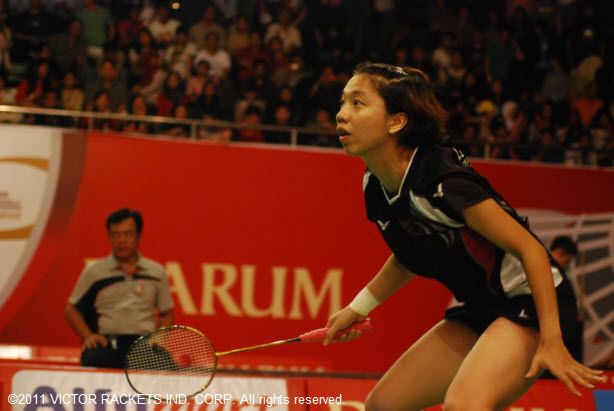 Playing twice in one day, Cheng Wen Hsing took the mixed double's title and second place in the women's doubles