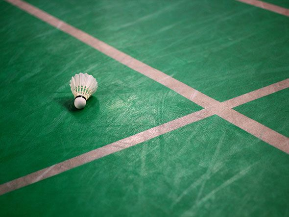 Technical terms often used in badminton service faults