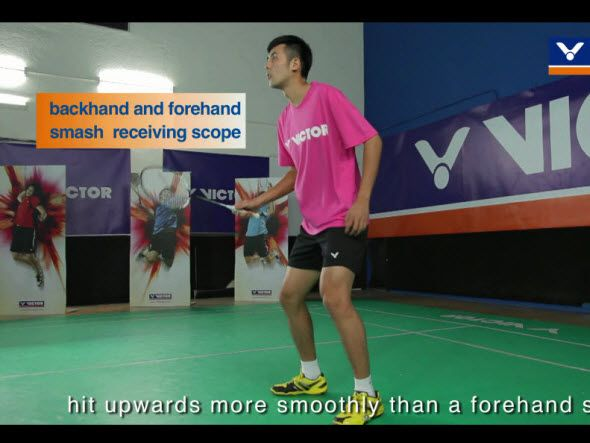 Badminton specific training (5) - Receive a smash