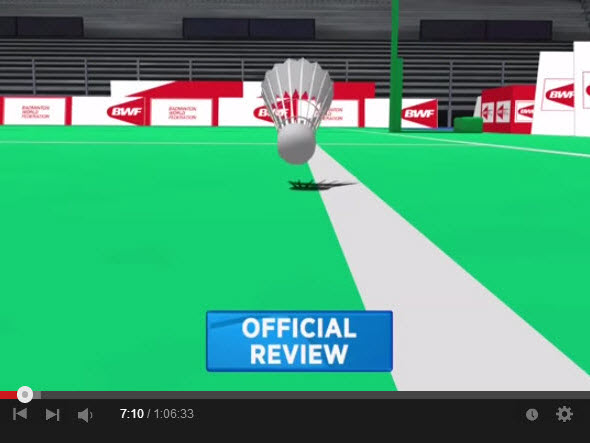"A ""badminton Hawkeye system"" that is different to the tennis one"